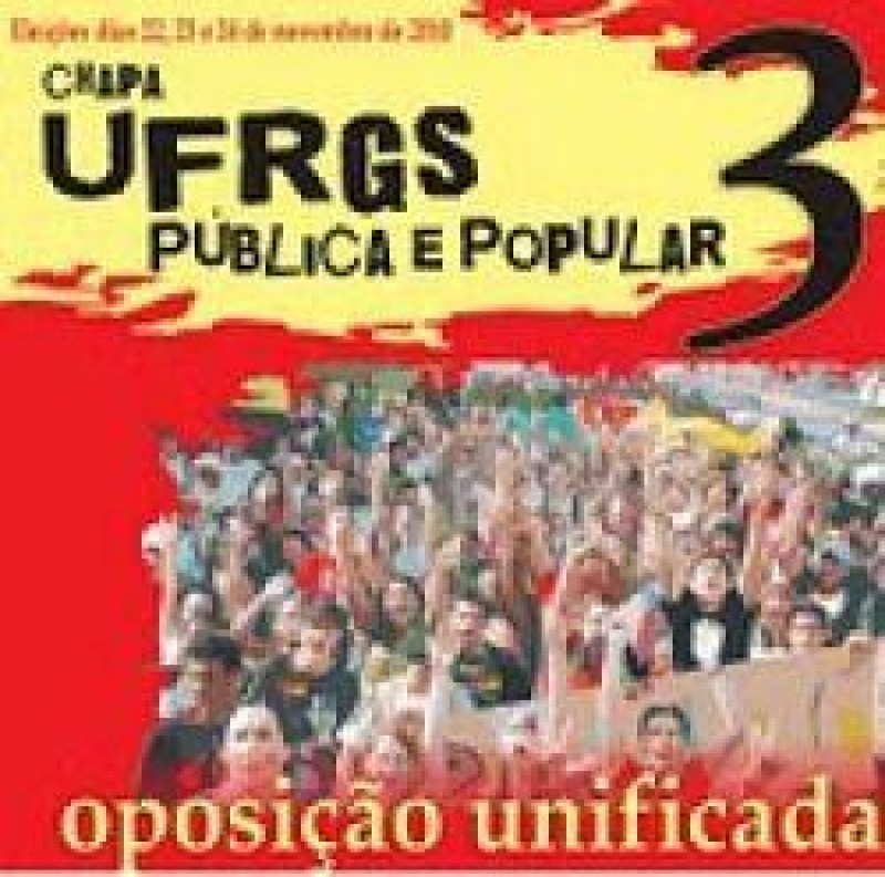 [Chapa 3 vence em processo eleitoral do DCE / UFRGS legitimado por grande votação]