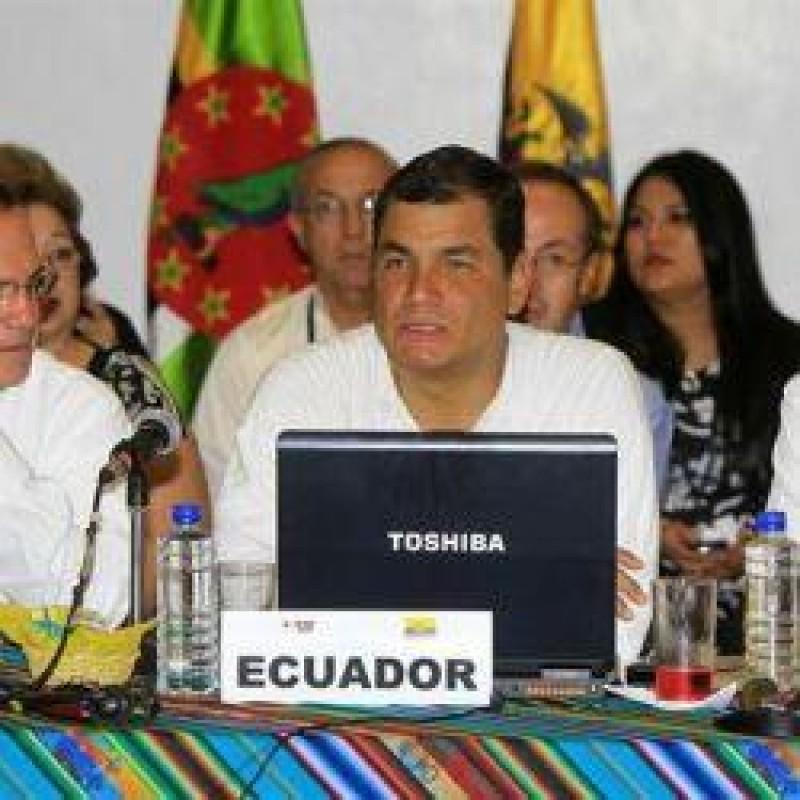 [UNASUL Declara apoio ao Governo do Equador]
